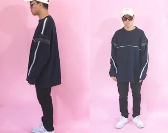 Vintage sweatshirt sweater y2k skater grunge blue size xl 1990s 1980s 90s 80s