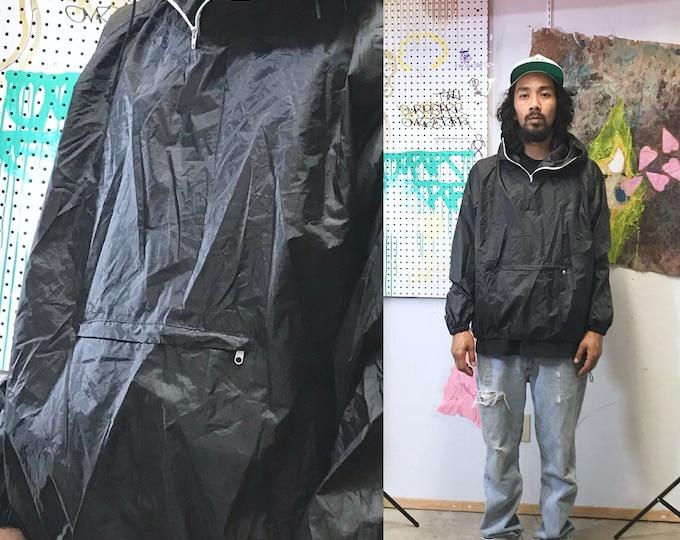 Featured listing image: Vintage poncho black hoodie windbreaker jacket medium 1990's goth