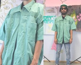 Vintage polo shirt mint green size xl 1990s 1980s club country club golf shirt