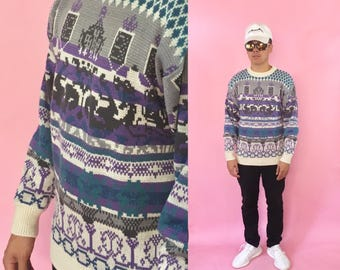 90's vintage sweater Saturdays skater surfer supreme 1990s 1980s 80s coogi cosby ugly sweater