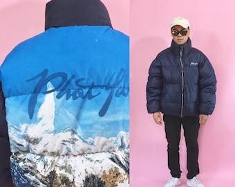 Vintage puffer jacket puffy jacket phat farm late 90's fubu jacket karl kani fubu 1990s 1980s 80s