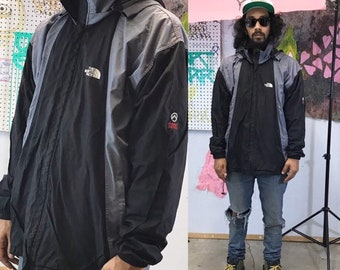 Vintage late 90's the north face windbreaker 1990s 1980s black grey size xl