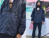 Vintage windbreaker pullover hoodie black 1990 39 s hiking minimal athleisure streetwear