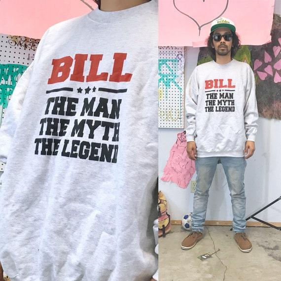 Vintage crewneck sweatshirt bill dad shirt grandpa shirt 1990s 1980s size xl