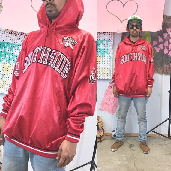 Vintage FUBU hoodie shiny red southside 1990s 1980s 90s 80s size large