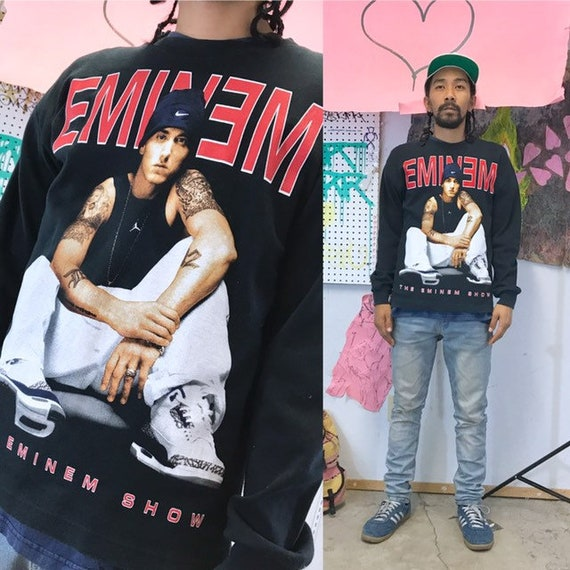 Vintage the eminem show long sleeve shirt size medium 2000's rap tee concert tee