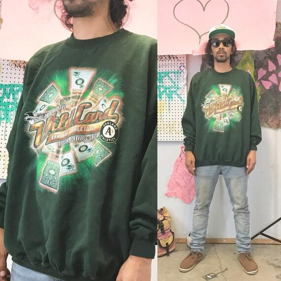 Vintage oakland a's sweatshirt green 1990s 1980s 90s 80s size xxl
