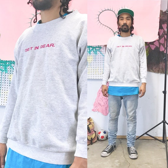 Vintage sweatshirt la gear 1980's 1990s grey crewneck size large
