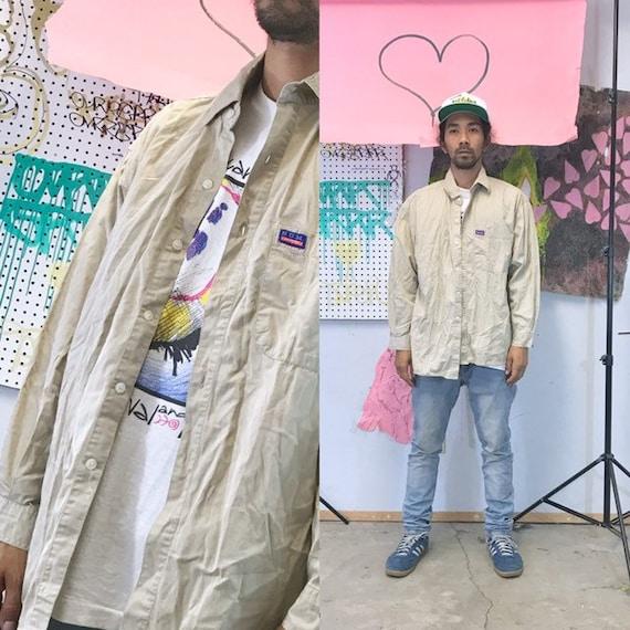 Vintage bum equipment safari jacket khaki jacket tech wear 1990s 1980s size large