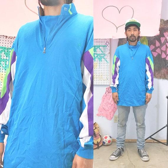 Vintage sweatshirt size xl quarter zip 1990s 1980s cycling hiking patagonia