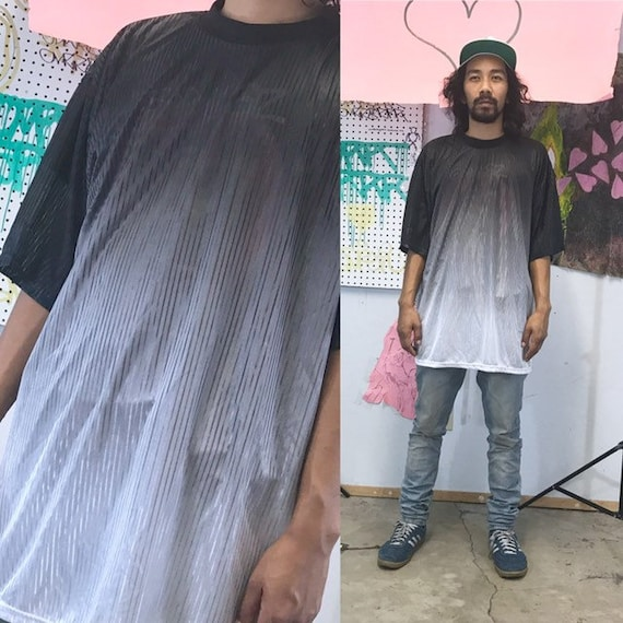 Vintage transparent t-shirt late 90's oversized gothic skater 1980's 1980s size xl