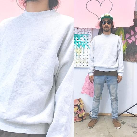 Vintage crewneck sweatshirt grey size large 1990s 1980s size large