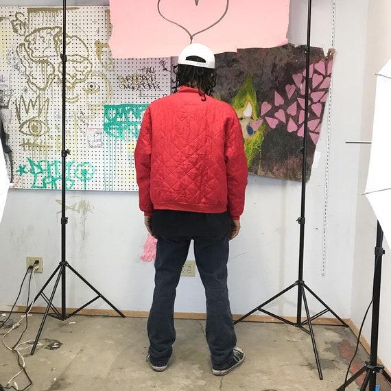 Vintage silk bomber jacket 1980's 1990's red bomb… - image 4