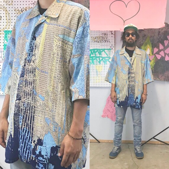Vintage loud shirt paco all over print crazy print
