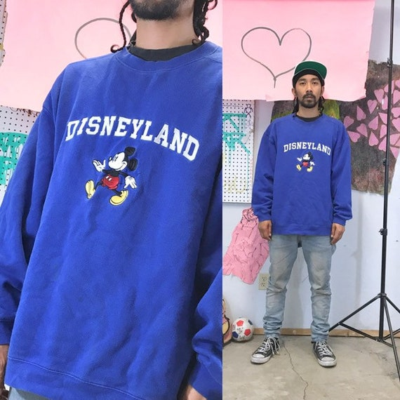 Vintage disneyland sweatshirt blue 1990s 1980s size large XL