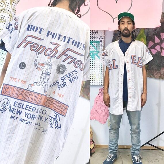 Vintage oversized jersey baseball nightie sleeper 1990s 1980s size xl esleep pop culture