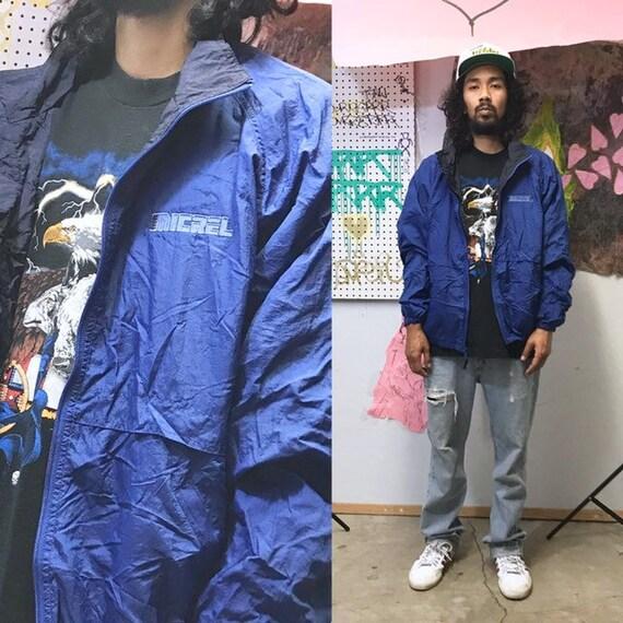 Vintage blue windbreaker micrel techwear streetwear size large