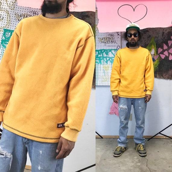 Vintage arizona jeans yellow fleece sweatshirt size medium skater y2k 1990s 1980s
