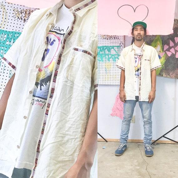 Vintage indigenous hand made shirt guatemala 1990s 1980s size large