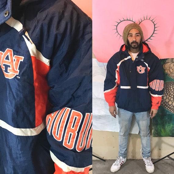 Vintage Puff Jacket by Logo Athletic Auburn Univ. Blue XL 1990s 1980s