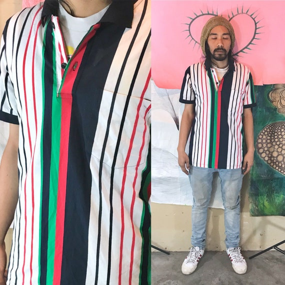 Vintage Dead Stock Timberland White Polo Striped XXL 1990s 1980s