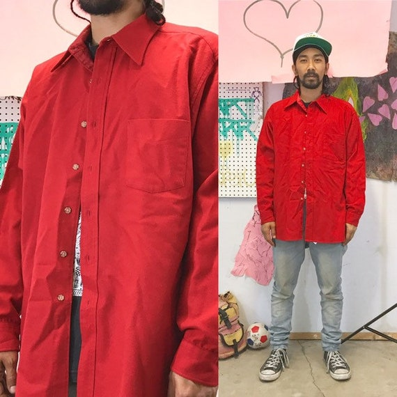 Vintage pendleton flannel red size xl red work shirt hunting