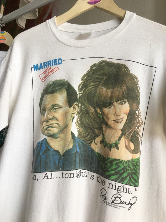 vintage Married With Children t-shirt size large white tshirt tv show