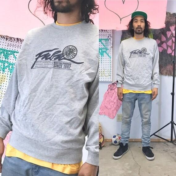 Vintage fubu sweatshirt grey embroidered y2k 1999 1990's 1980s size medium