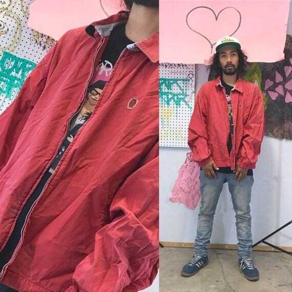 Vintage tommy hilfiger coach jacket red jacket windbreaker size xl