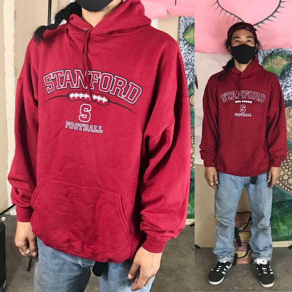 Vintage Stanford NCAA Hooded Sweatshirt by Ka Cotton Polyester XXL 1990s 1980s
