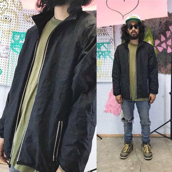 Vintage y2k black jacket windbreaker old navy black 1990's 1980's 90s 80s