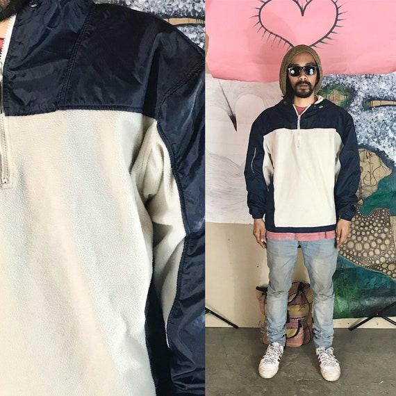Vintage NO FEAR Fleece Pullover Blue Medium 1990s 1980s