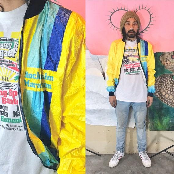 Vintage Tyvek Jacket by Sonteco Stockholm Marathon XL 1990s 1980s