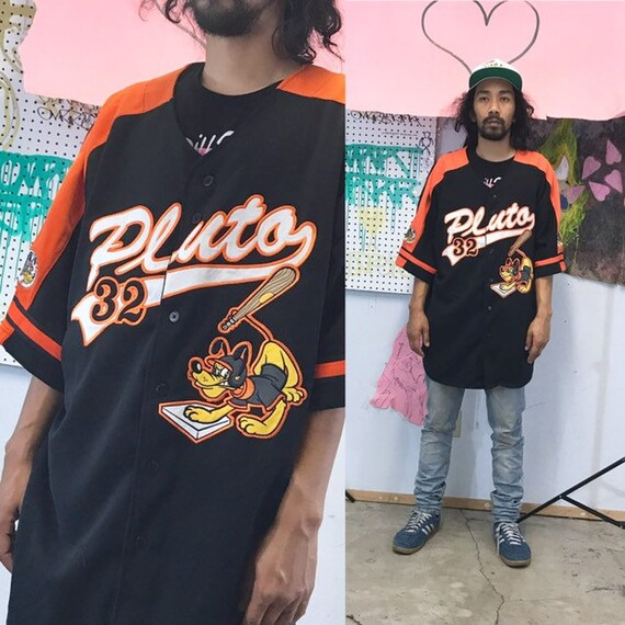 Vintage pluto baseball jersey disney oversized 1990s 1980s size xl