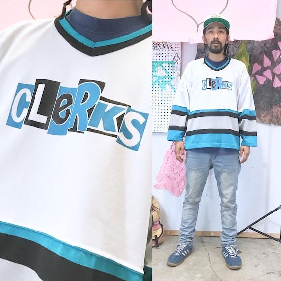 Vintage clerks movie hockey jersey size large 1990s 1980s