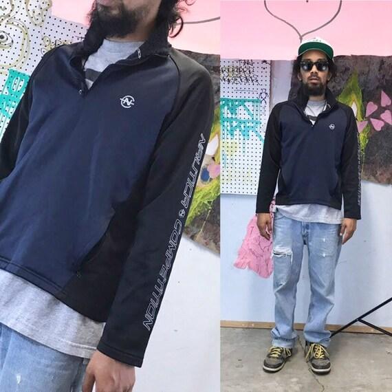 Vintage nautica pullover sweatshirt sweater black script size medium 1990s 1980s