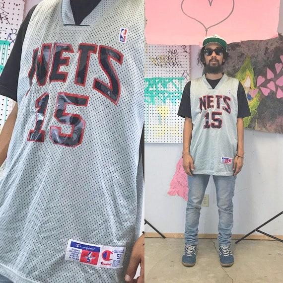 Vintage vince carter champion jersey grey new jersey nets size 52 grey alternate jersey