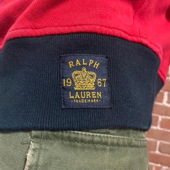 Vintage fleece sweatshirt polo ralph lauren 80s r… - image 7