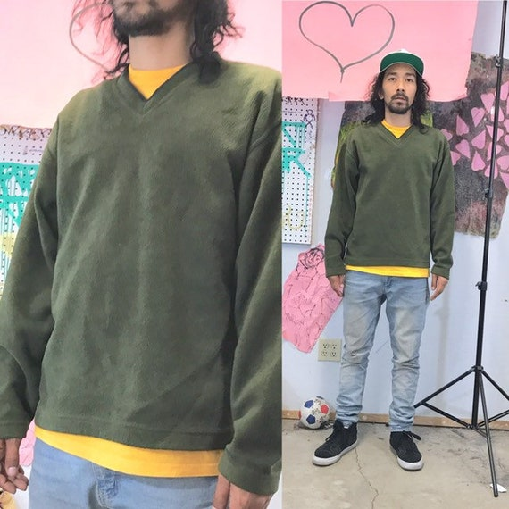 Vintage gap sweatshirt vneck 1990s 1980s green size medium