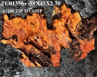 Redwood burl slab   lie edge   river table   craft woods   21-0135bs