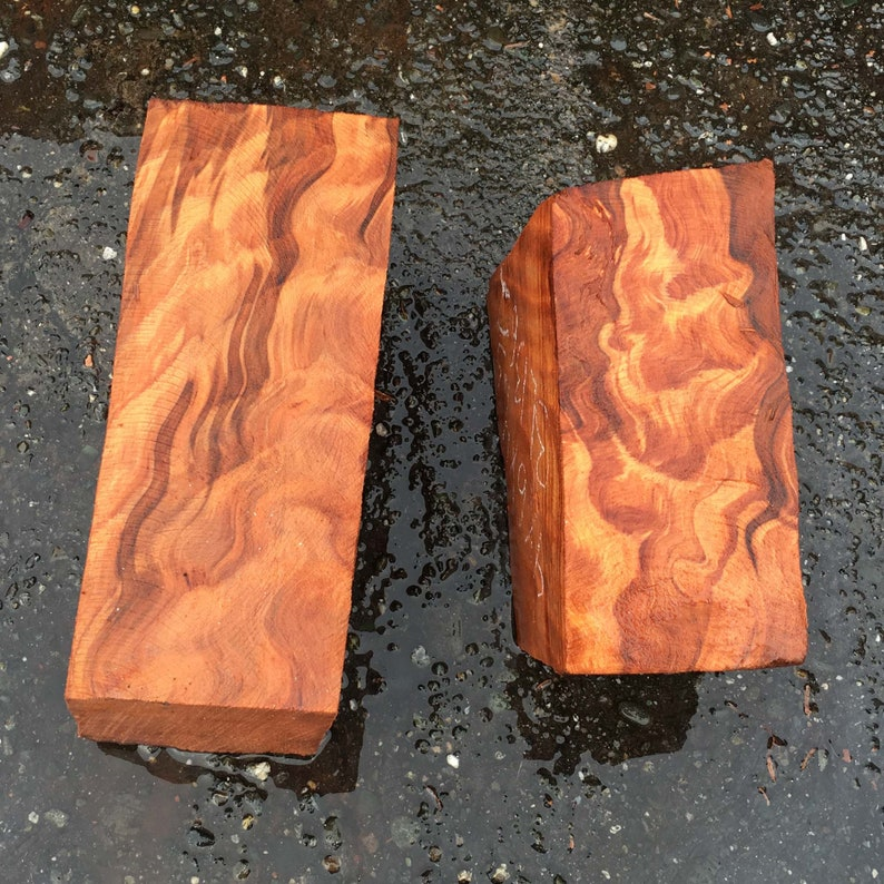2 wood turning block craft wood bl13771362 bowl turning blank curly quilted redwood