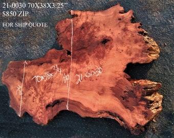 Live edge slab   redwood burl   river table   craft woods 21-0030bs