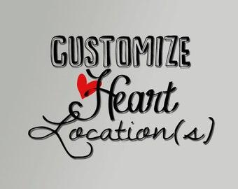 Customize Heart Location(s)