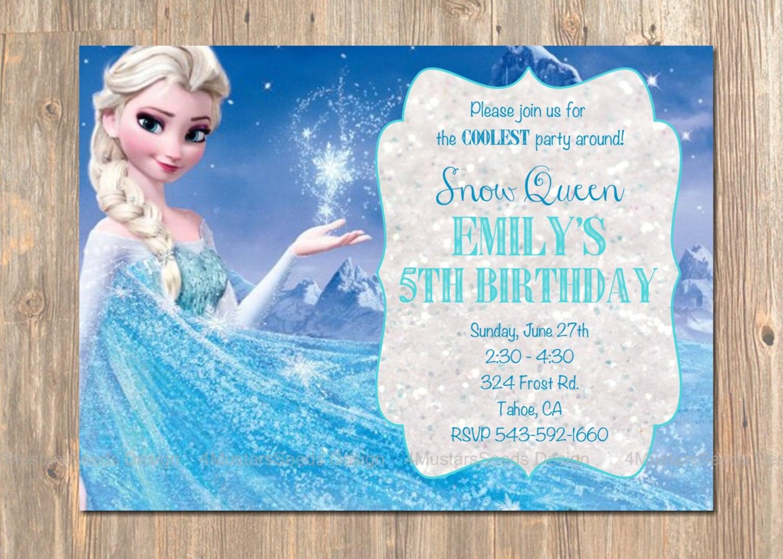 Frozen Birthday Invitation Elsa Frozen Invitation Printable Etsy