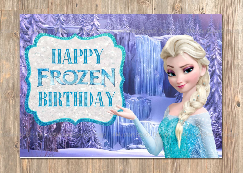 Frozen Birthday Card Happy Birthday Cards Disney Etsy