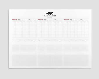 Almost FREE Printable A3 Wall Planner
