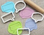 Comics speech bubbles cookie cutters set, 4 pcs