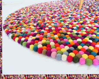 Carpets*Felt carpet*Felt ball carpet*Children's carpet*180 cm *Rug*Feltcarpet