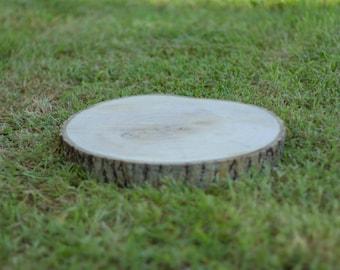 Wood slices 15-20cm rustic display centrepieces
