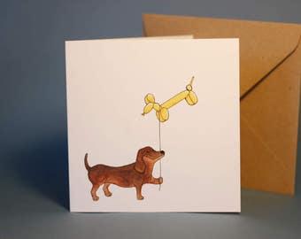 Dachshund Card Etsy
